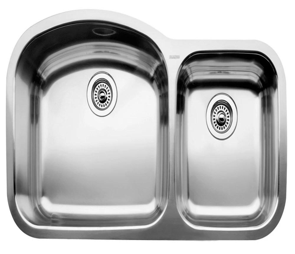 wave u 1 double bowl undermount kitchen sink stainless steel