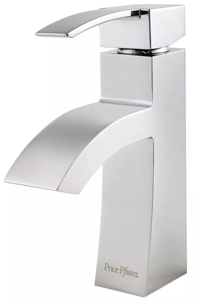 bernini single control bathroom faucet in polished chrome finish