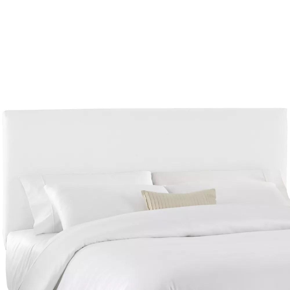 housse pour tete de lit double en tissu blanc