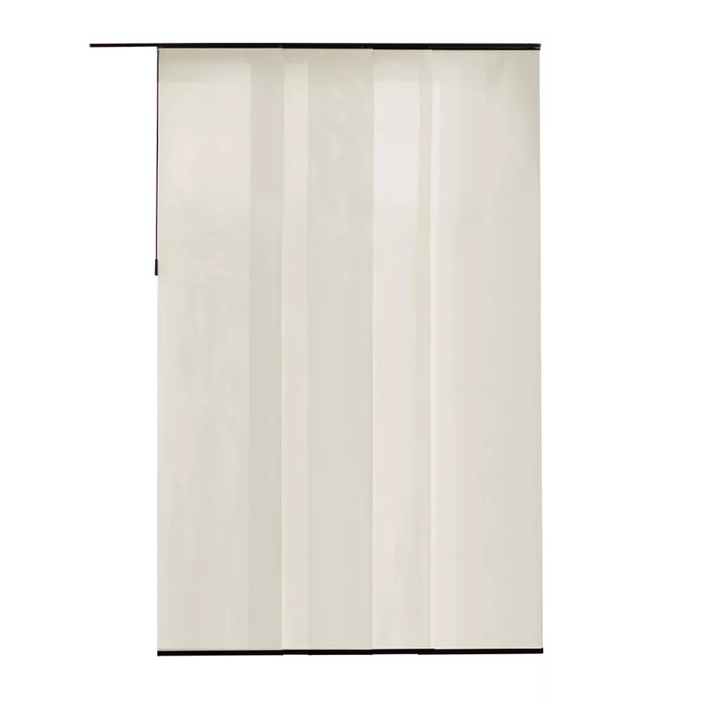 panneau en tissu manhattan perle 55 cm l x 269 cm h largeur reelle 55 cm