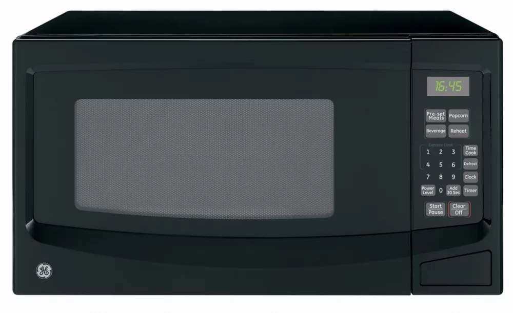 1 1 cuft countertop microwave in black