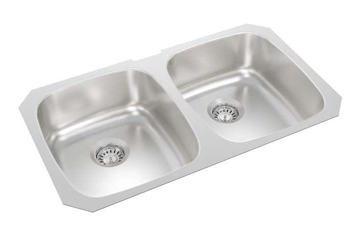 31 inch x 18 inch x 7 inch deep double bowl undermount kitchen sink