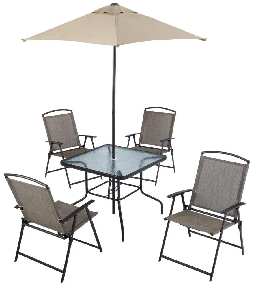 6 piece folding patio dining set