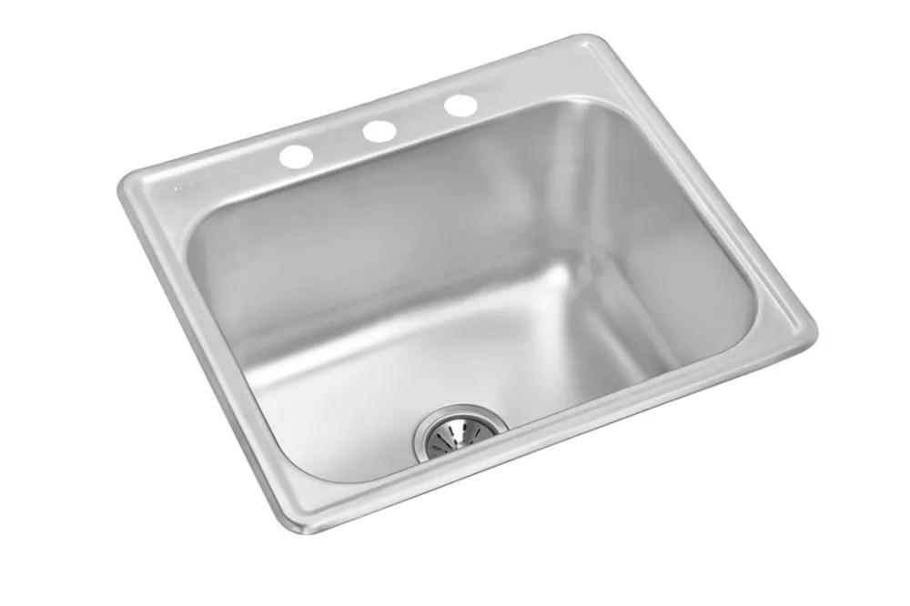 single bowl drop in 24 inch x 21 inch x 12 125 deep