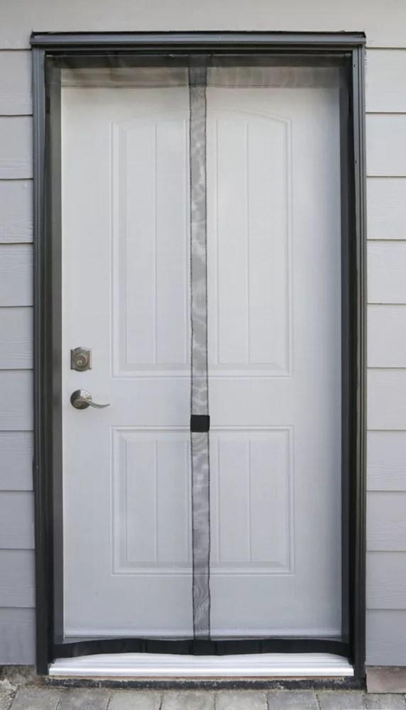 38 inch w x 80 inch h fiberglass walk through insect screen door in black