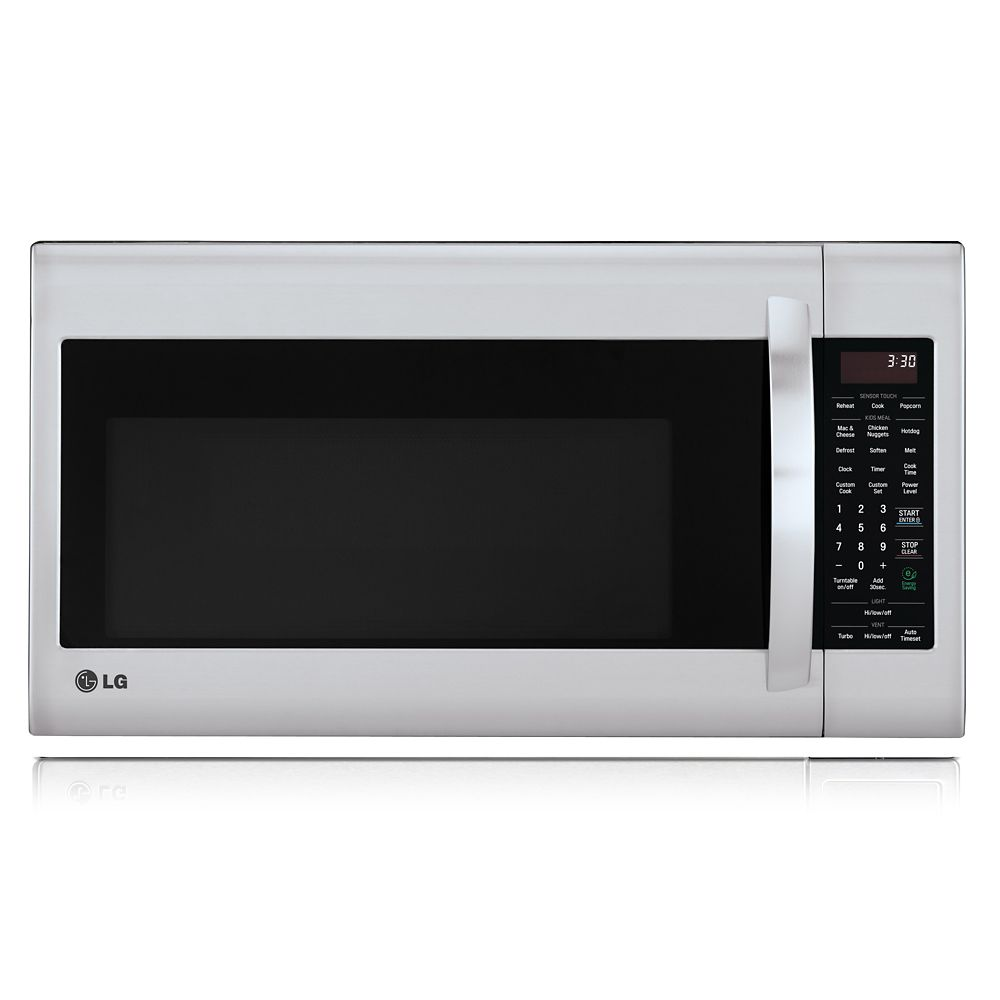 2 0 cu ft over the range microwave in stainless steel with easyclean and sensor cooking