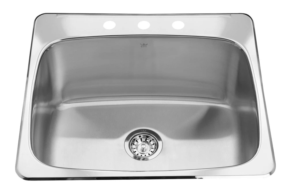 top mount satin finish 12 inch deep 3 hole faucet drilling single bowl kitchen sink