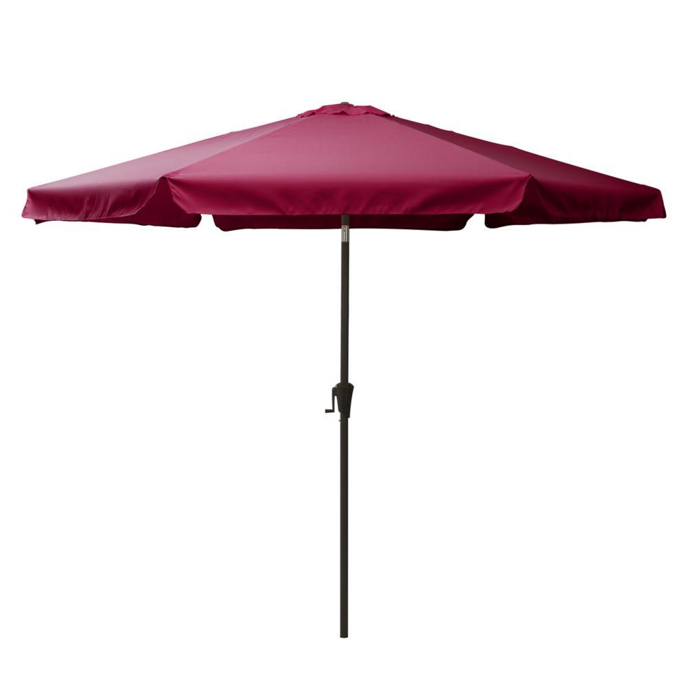 10 ft round tilting wine red patio umbrella