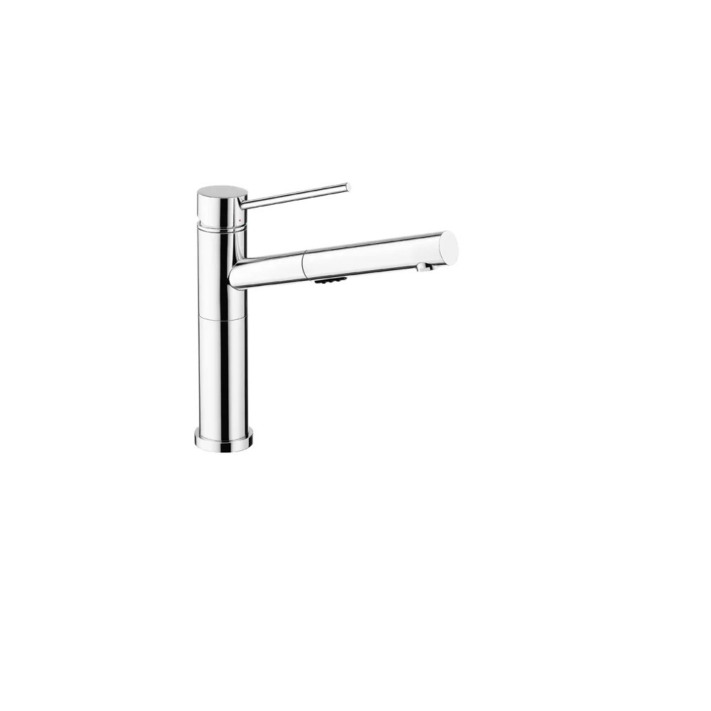 alta low arc pull out kitchen faucet 2 2 gpm flow rate dual spray chrome