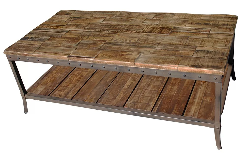trenton coffee table in distressed pine