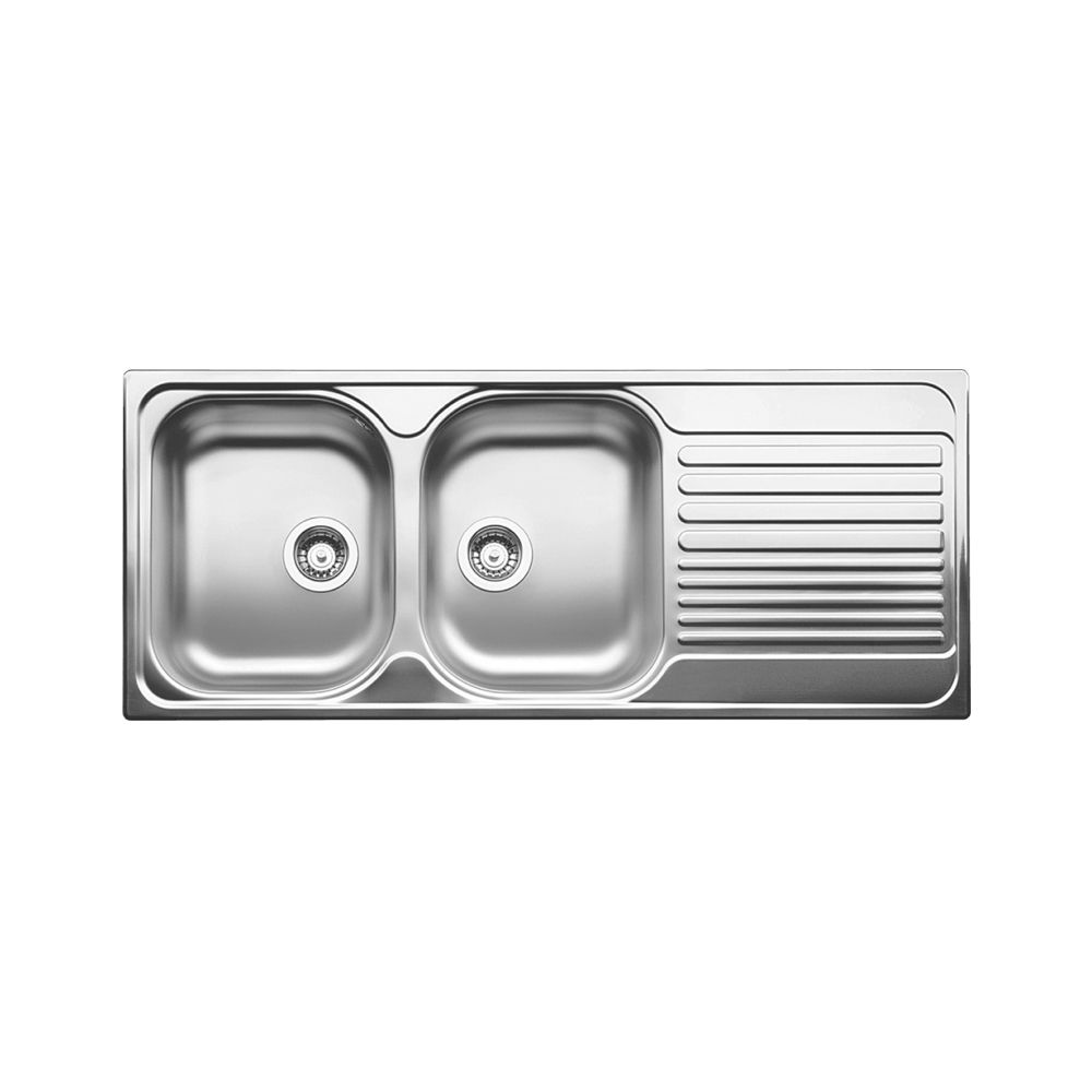 tipo 8s stainless steel equal double bowl drop in kitchen sink lh bowl