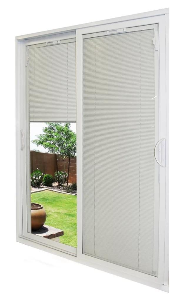 71 1 2 inch x 79 1 2 inch x 5 3 4 inch jamb depth double sliding pvc patio door in white energy star