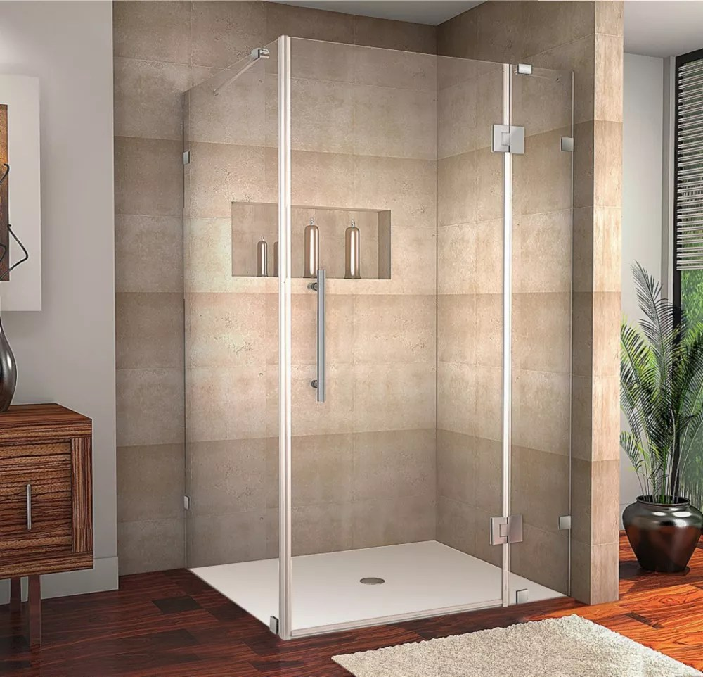 Aston Avalux 42 Inch X 36 Inch X 72 Inch Frameless Shower Stall In Chrome The Home Depot Canada