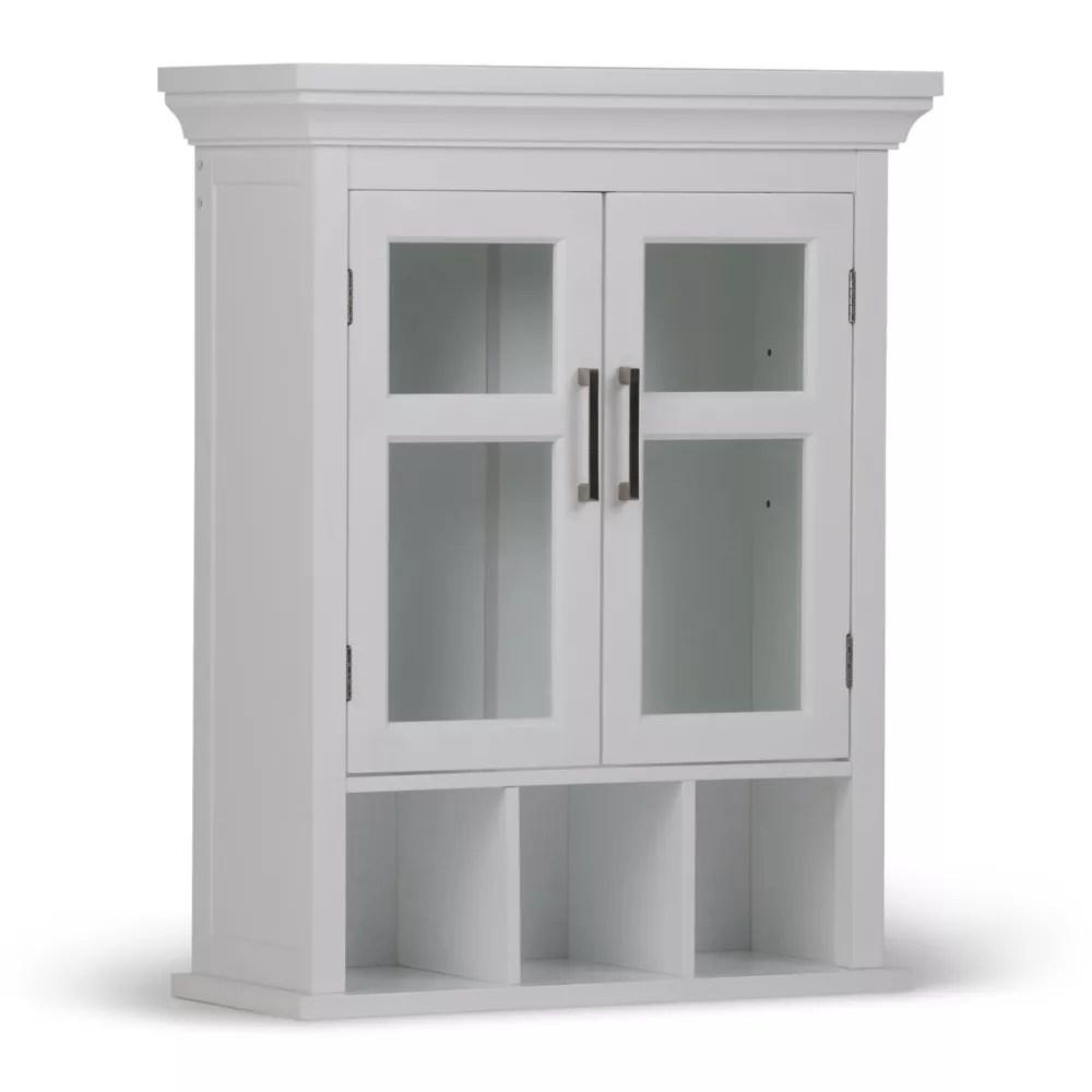 armoire murale avington a 2 portes avec cubes de rangement