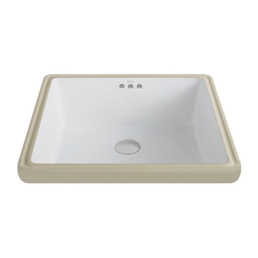 elavo ceramic square undermount bathroom sink with overflow in white