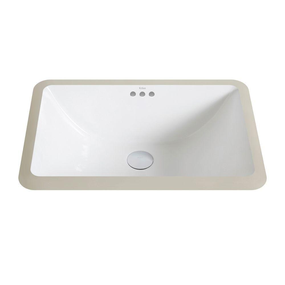 elavo small ceramic rectangular undermount bathroom sink with overflow in white