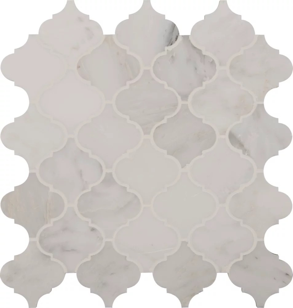 greecian white arabesque 12 inch x 12 inch marble mesh mounted mosaic tile 10sq ft case