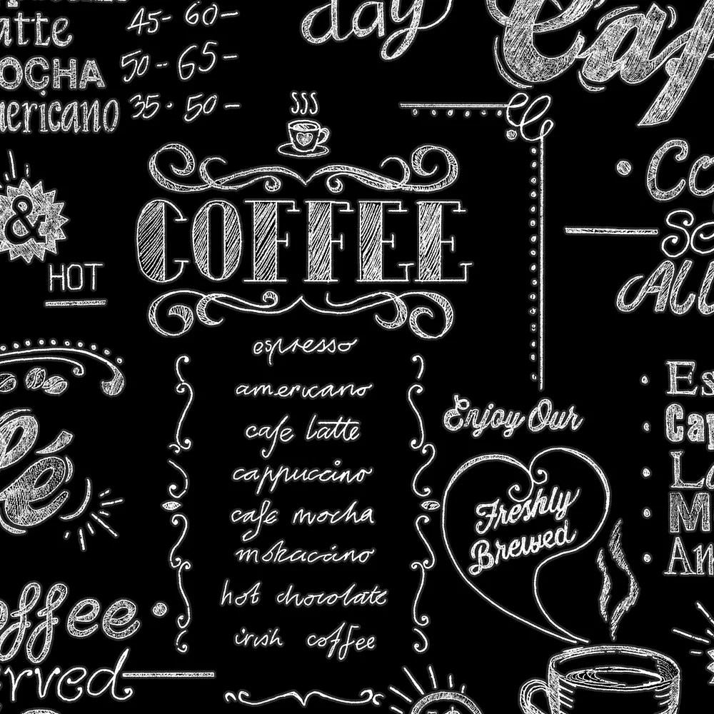 Graham Brown Coffee Shop Black White Wallpaper The Home Depot Canada
