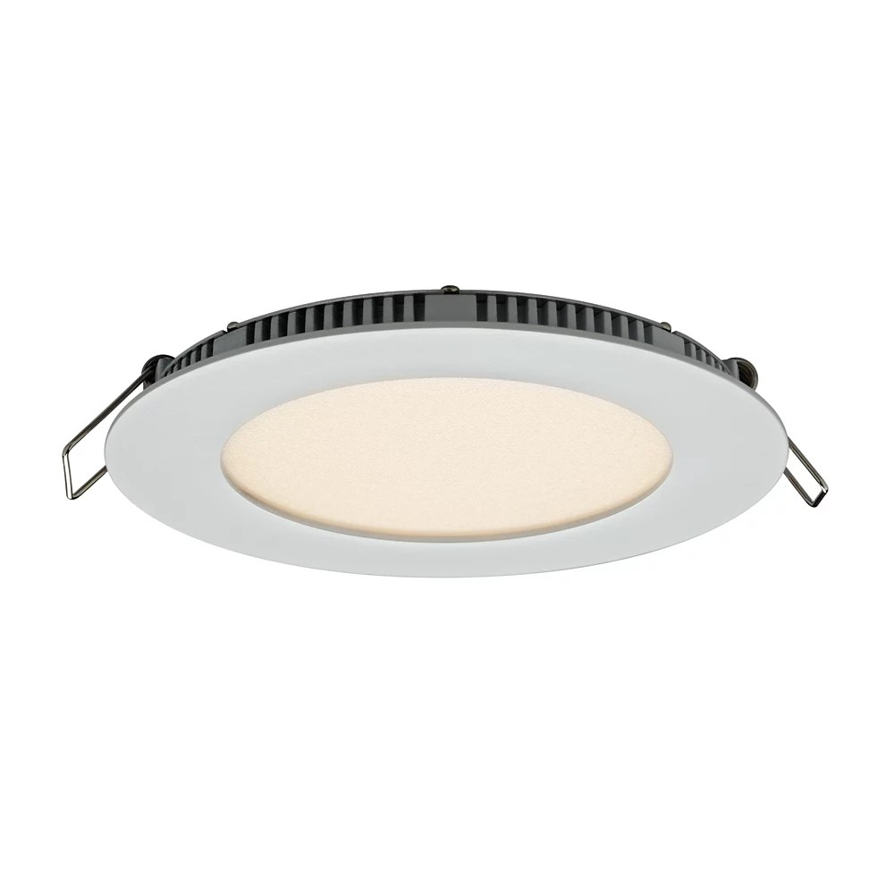 ultraslim 4 inch led recessed round panel light in white energy star