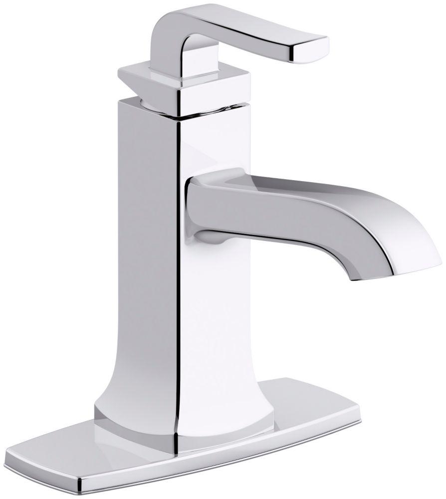 rubicon single hole single handle bathroom faucet in polished chrome