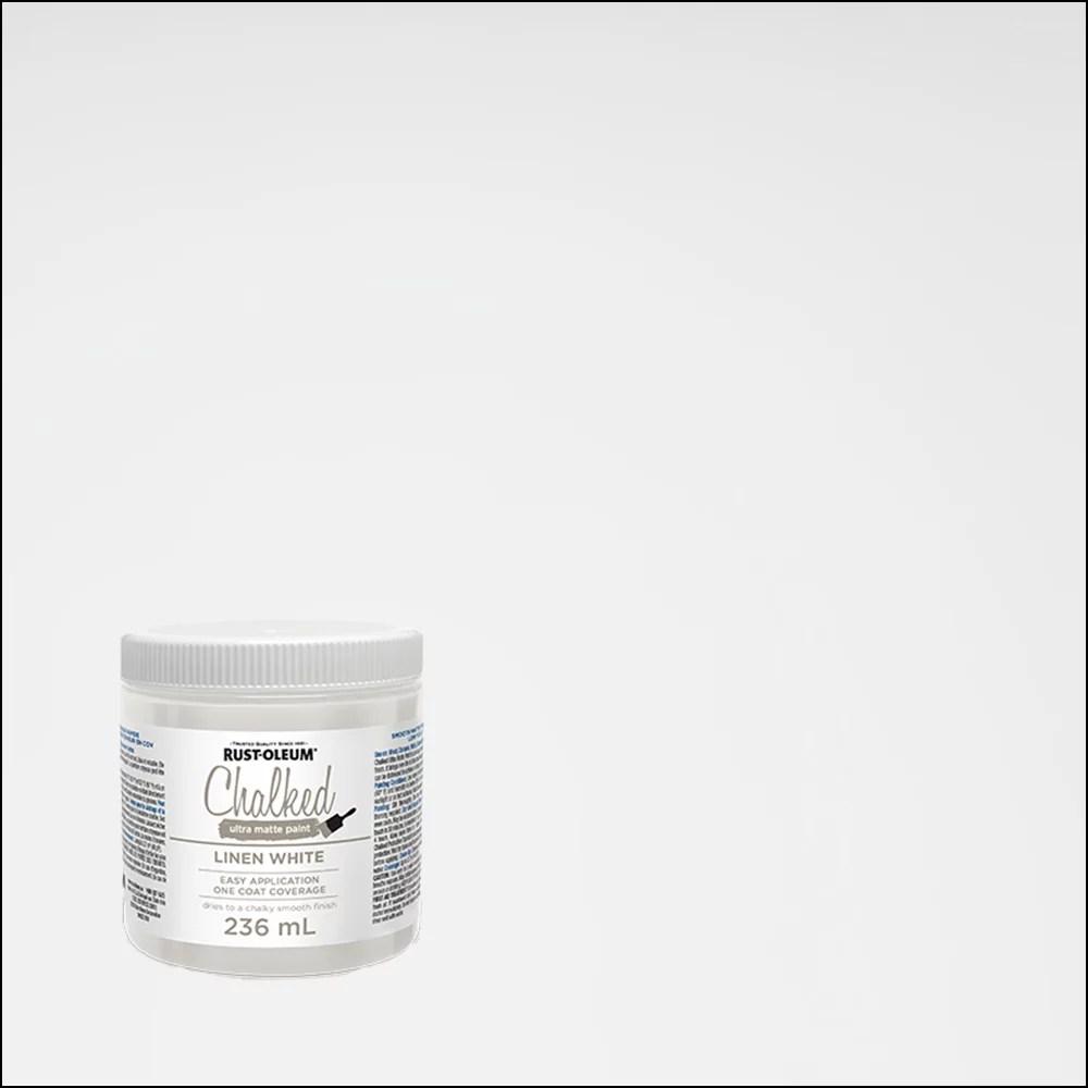 Rust Oleum Peinture Ultra Mate A La Craie En Blanc Lin 236 Ml Home Depot Canada