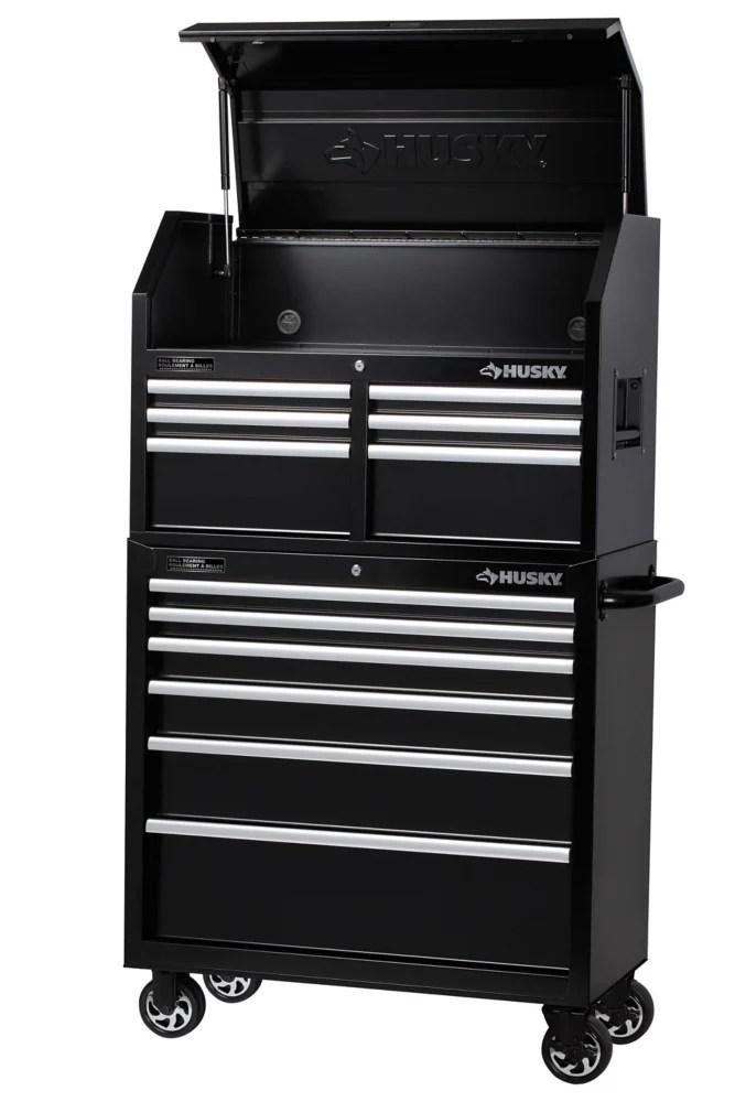 coffre a outils et armoire a 12 tiroirs 36 po