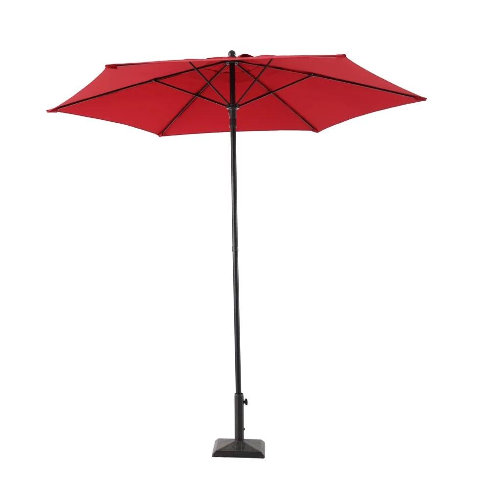7 5 ft steel push up market patio umbrella in red