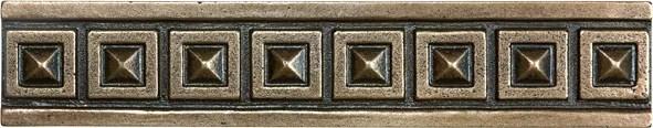 palladian 1 25 inch x 6 inch metal border tile in cast bronze