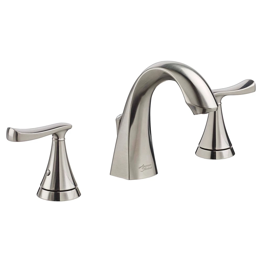 chatfield widespread 8 inch 2 handle high arc bathroom faucet with lever handles in brushed nickel