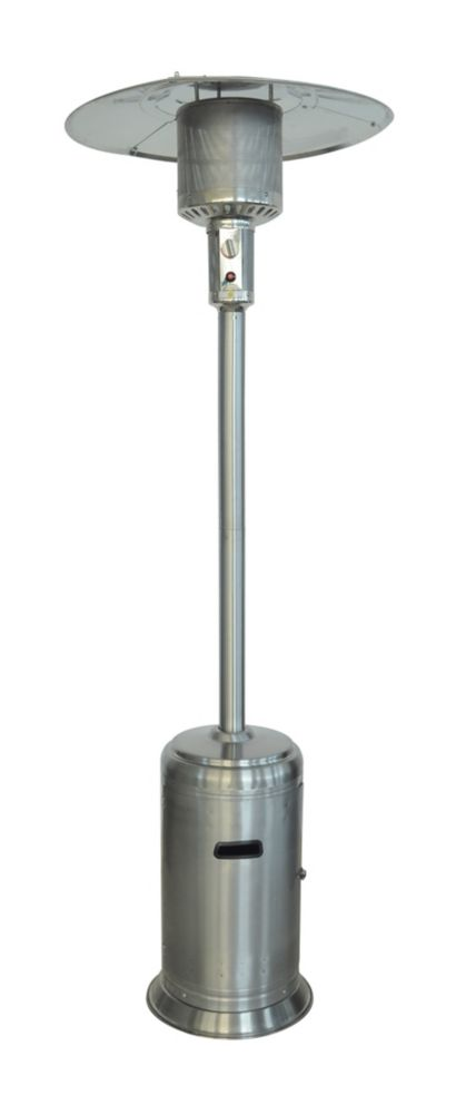 propane patio heater in stainless steel