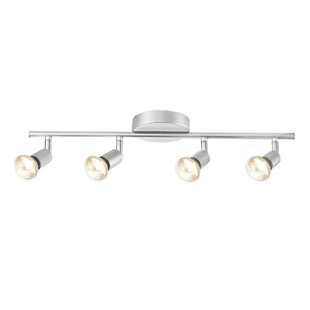 payton 4 light matte silver track lighting kit
