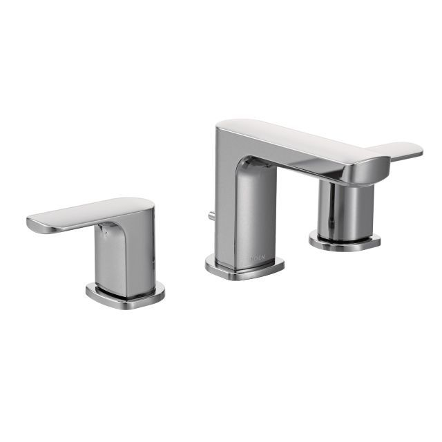 rizon 8 inch widespread 2 handle bathroom faucet trim kit in chrome valve not included