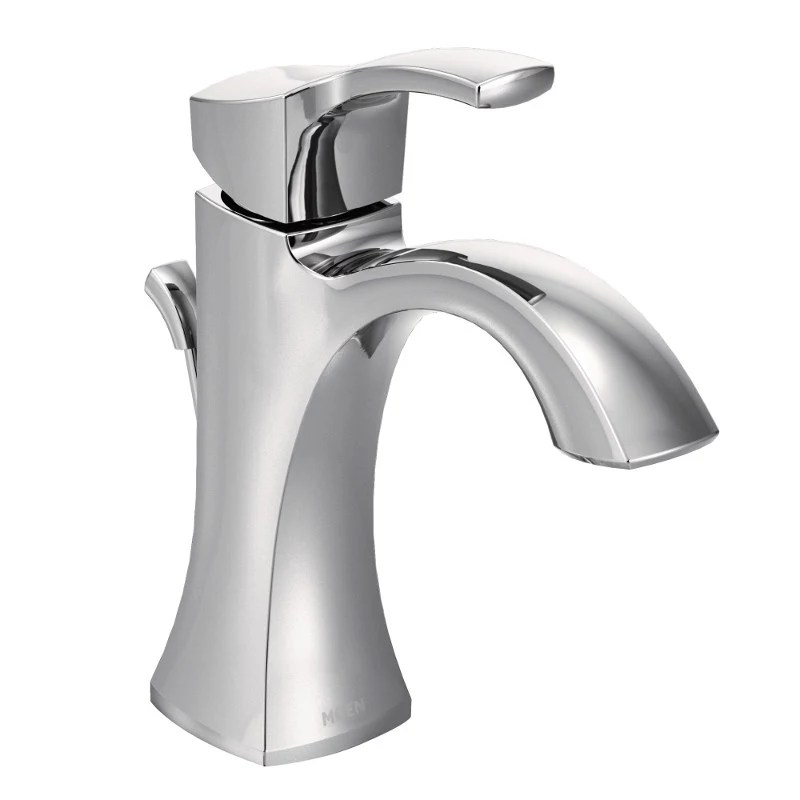 voss single hole single handle high arc bathroom faucet in chrome