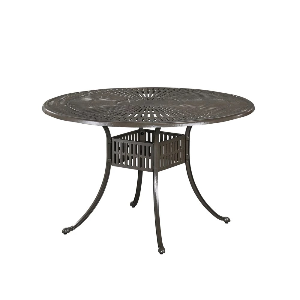 largo 48 inch round outdoor dining table