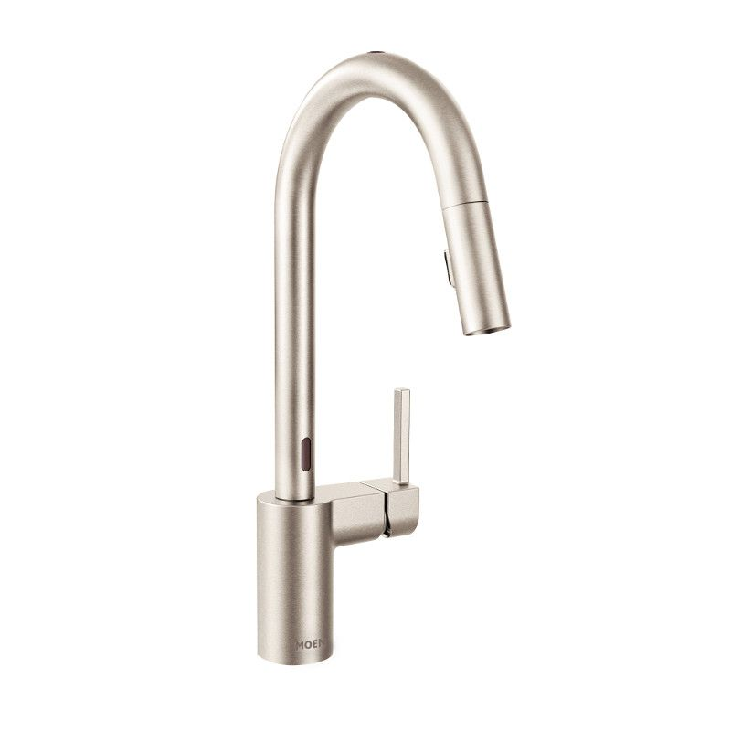 align single handle touchless pull down sprayer kitchen faucet with motionsensein spot resist stainless