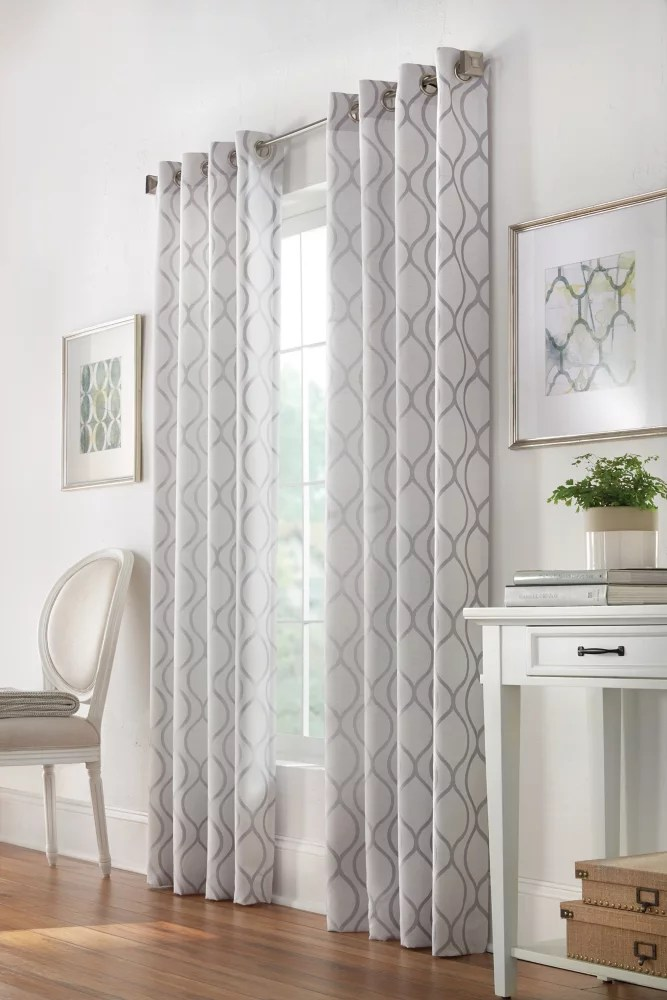 orleans light filtering grommet curtain 52 inches width x 108 inches length pewter