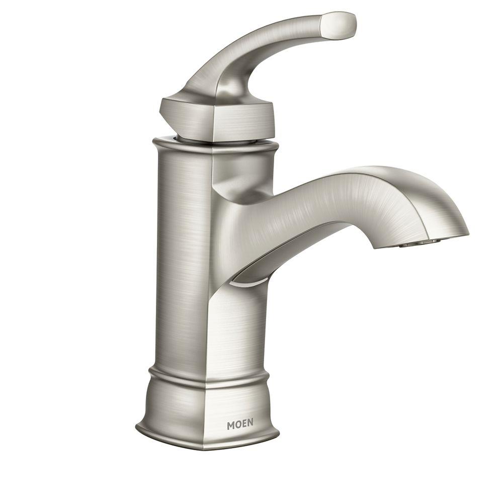 hensley single hole single handle bathroom faucet in spot resist brushed nickel