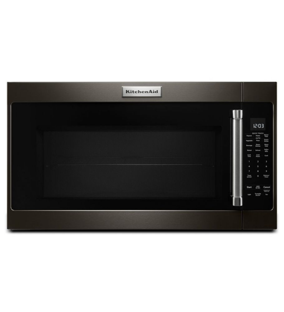 2 0 cu ft over the range microwave in black stainless steel