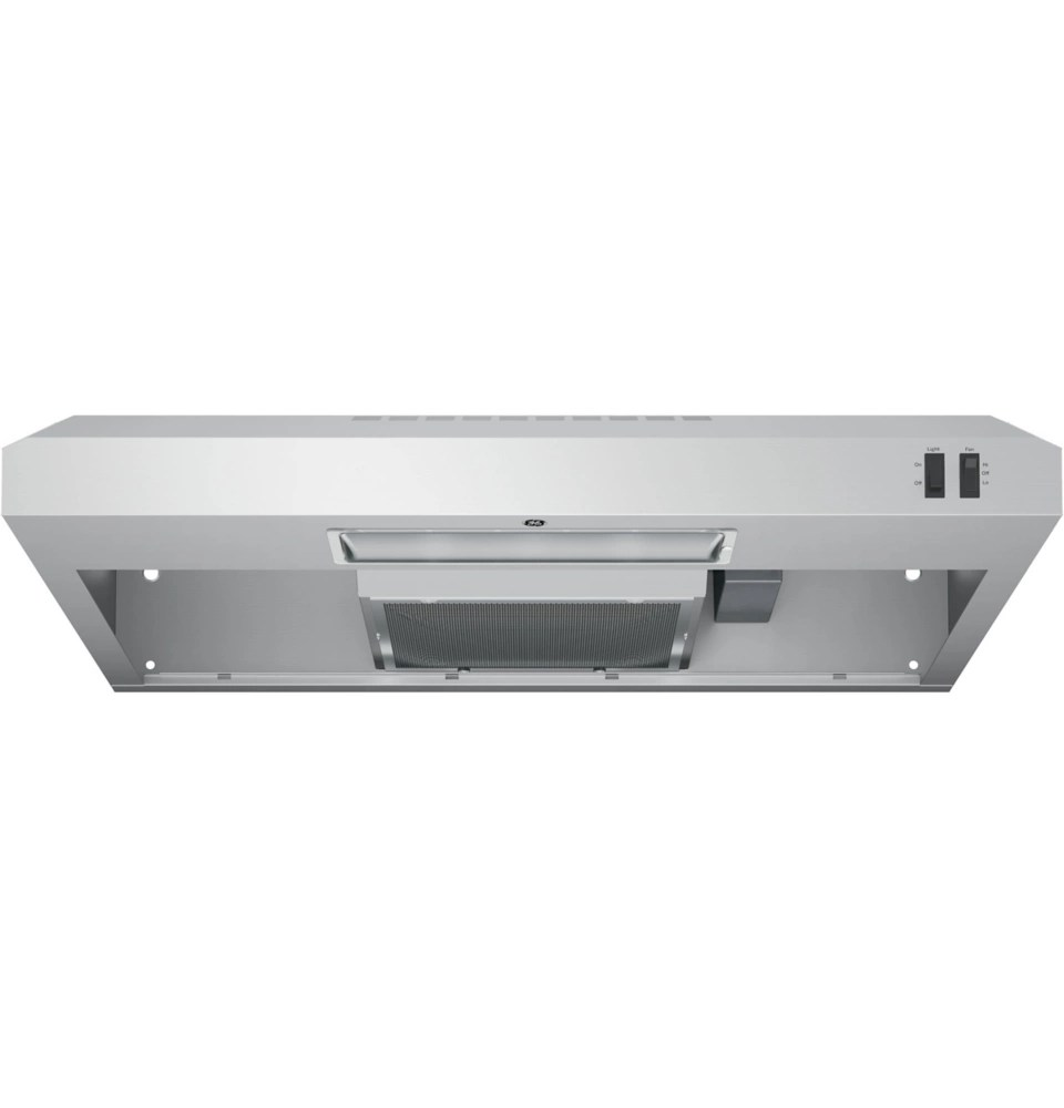 30 inch w under the cabinet vent range hood in stainless steel