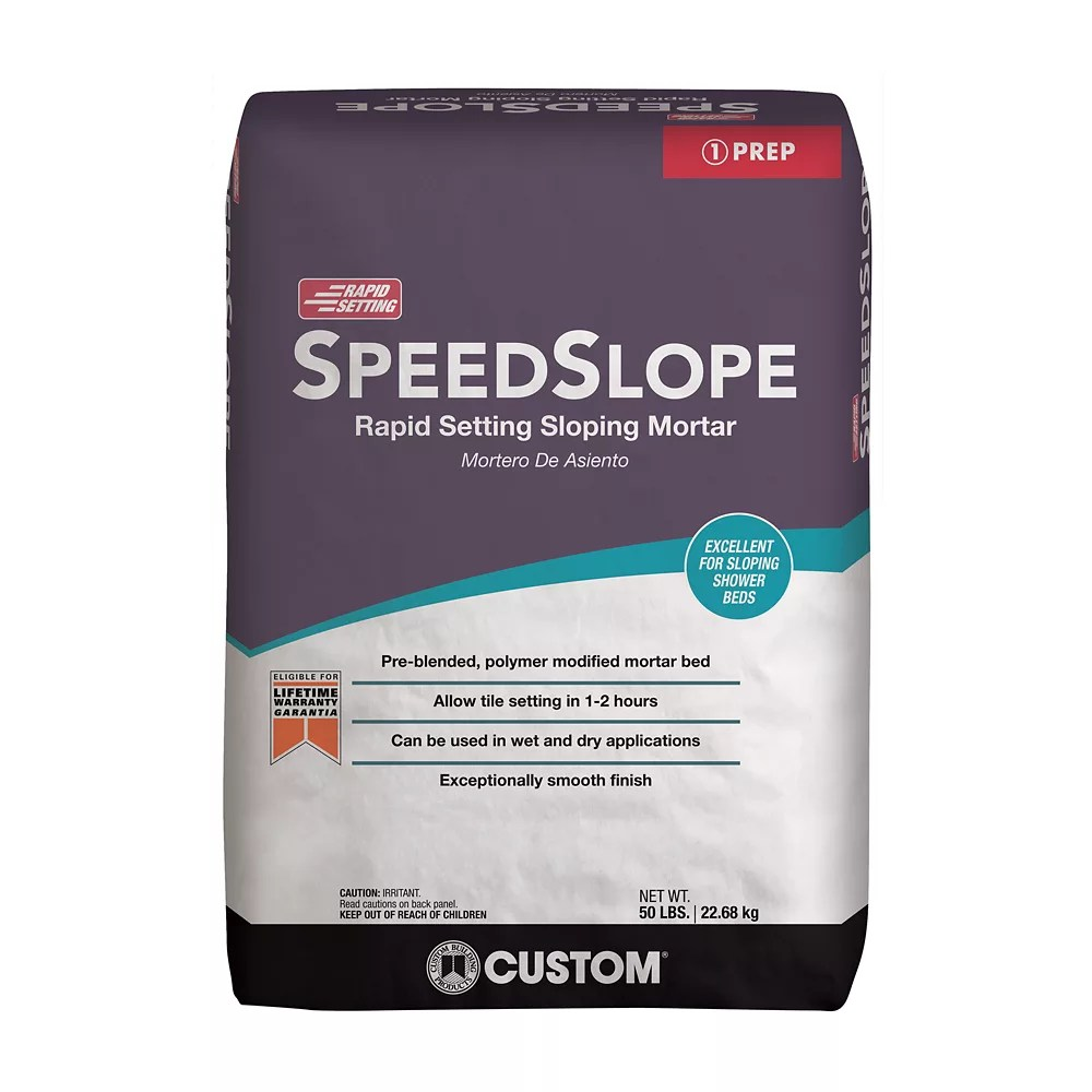 speedslope 50 lb rapid setting sloping mortar