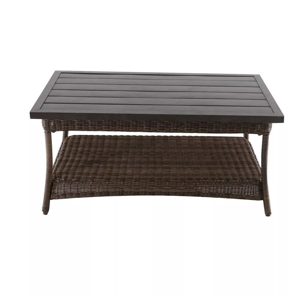 beacon park all weather wicker patio coffee table