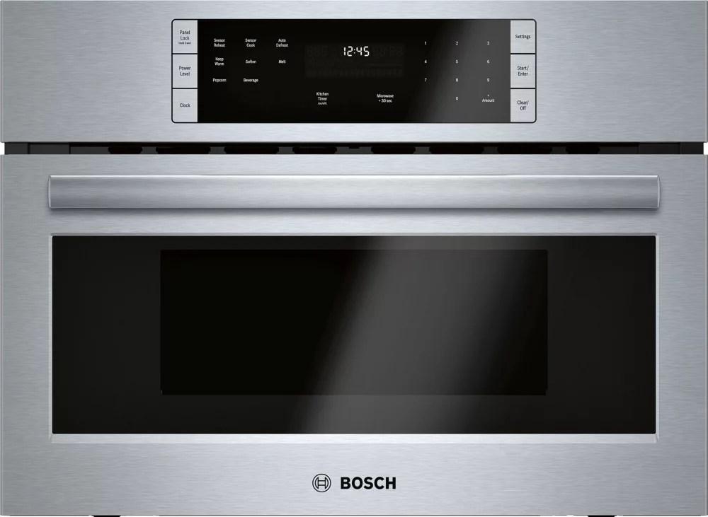 bosch 500 series 27 inch built in microwave with drop down door
