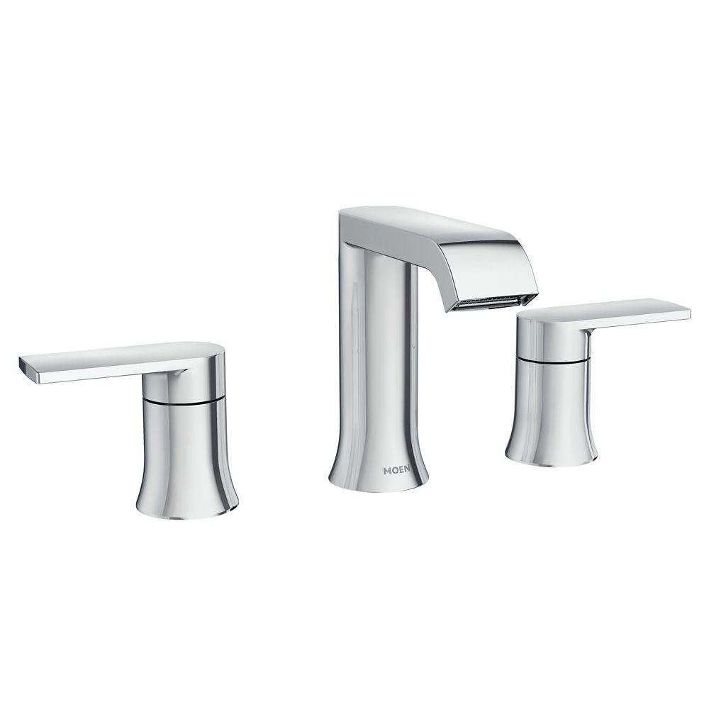 genta 8 inch widespread 2 handle bathroom faucet in chrome