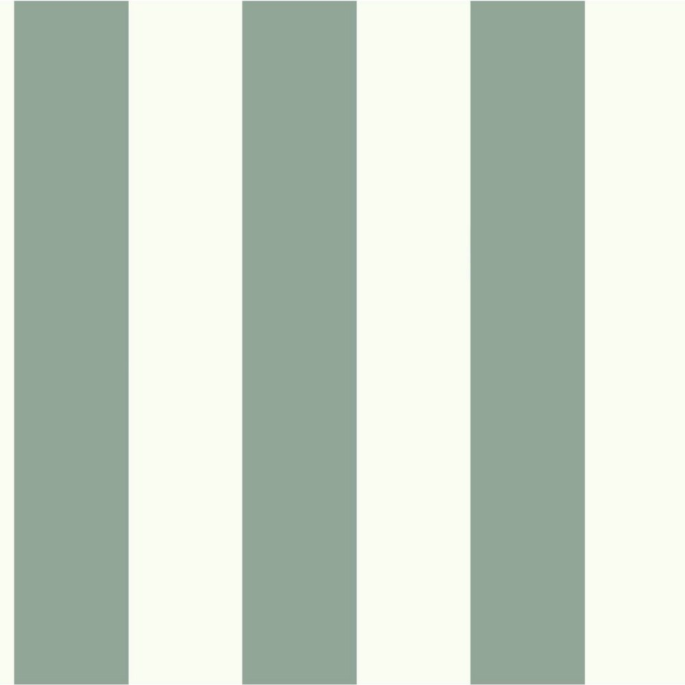 Joanna Gaines Magnolia Home 56 Sq Ft Awning Stripe Green Removable Wallpaper The Home Depot Canada