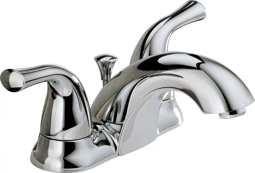 two handle centerset lavatory faucet chrome