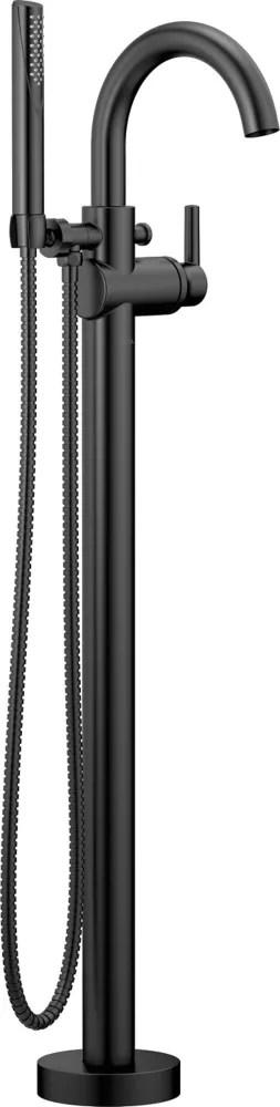 trinsic floor mount tub filler trim matte black valve sold separately