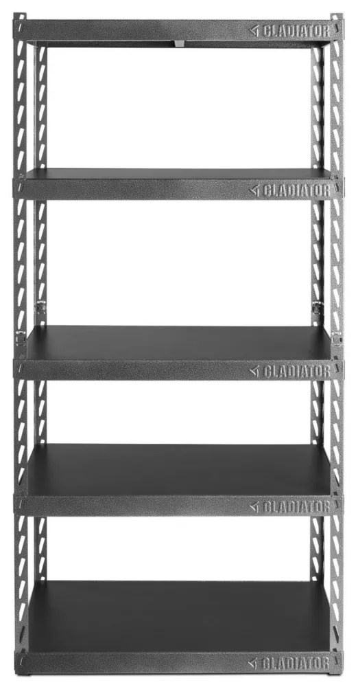 Gladiator Ez Connect 30 Inch W Rack With Four 15 Inch D Shelves In Hammered Granite The Home Depot Canada