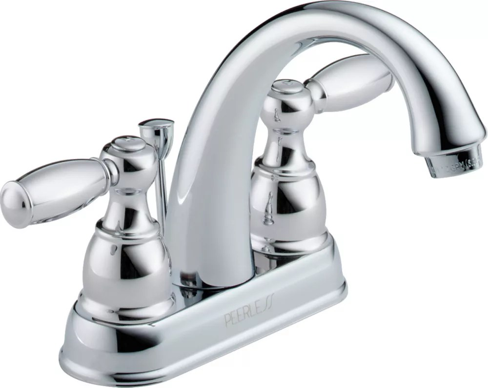two handle centreset lavatory faucet in chrome