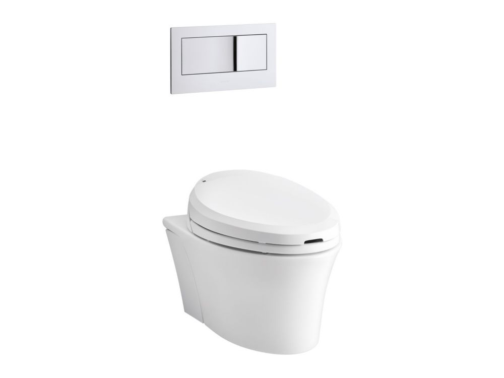 Kohler Veil Wall Hung Elongated Toilet Bowl Only In White The Home Depot Canada
