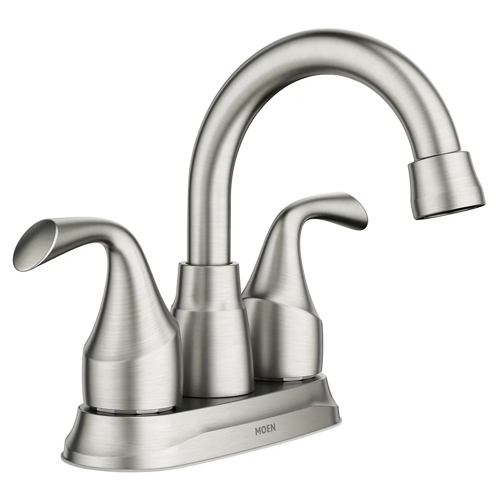 idora 4 inch centerset 2 handle bathroom faucet in spot resist brushed nickel